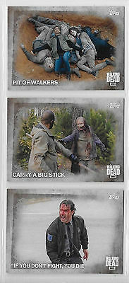3 2016 Topps AMC Walking Dead Collector Cards #91,92,93