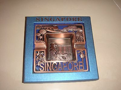 Singapore Souvenir Cigarette Ashtray with a stand, can use as home decoration