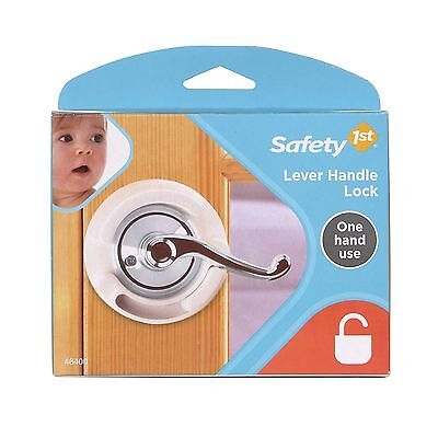 Safety First Lever Handle Lock For Interior Doors One Hand Use