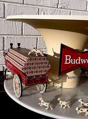 Vintage Budweiser Championship Clydesdale Team Carousel Motion Light Sign-As Is