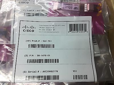 **NEW** GLC-TE  1000BASE-T SFP transceiver module for Category 5 copper wire