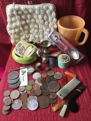 Mixed Estate Collectables Coin World Stone Gem Pins Trinket Old Random Lot 3