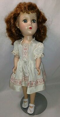 "Vintage Arranbee R&B walker doll 15"" with stand hard plastic Made in the USA"