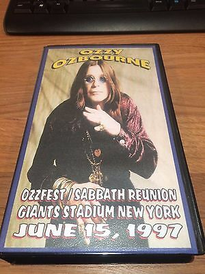 Ozzy Osbourne Live VHS tape 'OzzFest & Black Sabbath Reunion sets 1997