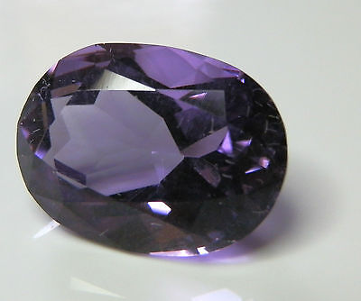 Natural earth-mined large amethyst oval gemstone...11.7 carat