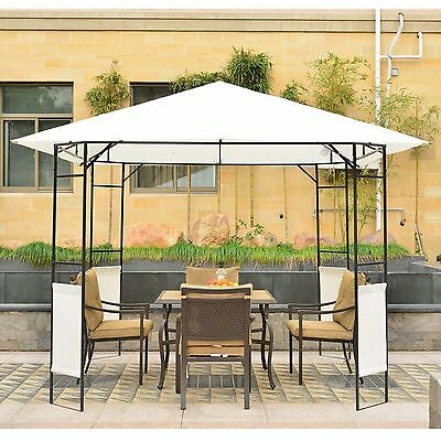 Outsunny 10'x10' Outdoor Gazebo BBQ Wedding Party Tent Canopy Pavilion Beach
