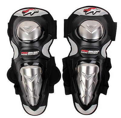 Motorcycle Offroad Racing Knee Pads Stainless Steel Armor Protective Guard