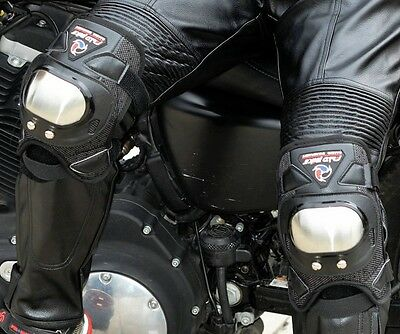 Motorcycle Armor Protective GuardStainless Steel Racing Rider Knee Pads
