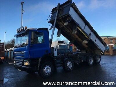 06 Daf  CF 85 340 8X4 32 Ton Steel Insulated Tipper With Tar Chutes + Cover
