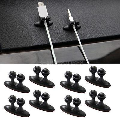 8Pcs Multifunctional Charger Line Clasp Headphone Cable Clip Adhesive On Car
