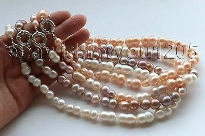 wholesale 4pieces Genuine Natural 20mm Baroque Twins Pearl Necklace #f2712!