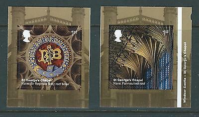 Great Britain 2017 Windsor Castle Self Adhesive Booklet Pair Unmounted Mint, Mnh
