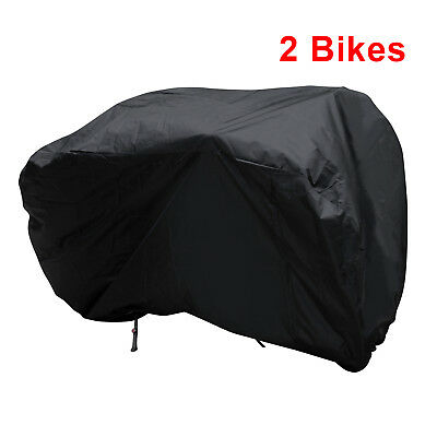 Waterproof Dual 2 Bike Bicycle Scooter Rain Dust Snow Sun Cover Storage bag