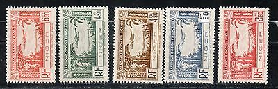 1940 French colony stamps, Niger, full set MNH, SC C1-5