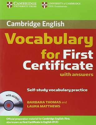 Cambridge Vocabulary for First Certificate with Answers and Audio CD, Matthews,