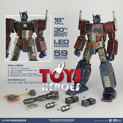 3A THREE A TRANSFORMERS AUTOBOT OPTIMUS PRIME G1 1/6 Preorder