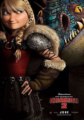 How To Train Your Dragon - A4 Glossy Poster -TV Film Movie Free Shipping #634