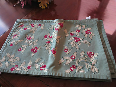 Placemats/Napkins Cherry Set of 6 - New!
