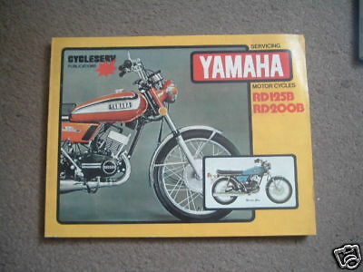 Cycleserv Yamaha Rd 125 Rd125 Rd200 200 B Modelli Manuale Officina