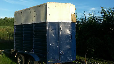 Pony Cob Horsebox Twin Axle Double Trailer Rear Load Front Unload