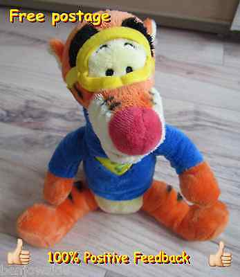 """Disney Winnie the Pooh Plush Toy Tigger Super Sleuth With Tag 13"""" Inch"""