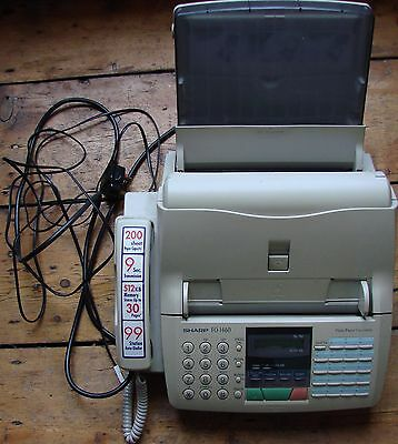 Sharp FO-1460 plain paper fax machine with telephone and operation manual