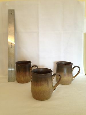 DENBY LANGLEY 3 VINTAGE COFFEE Cups, ROMANY BROWN
