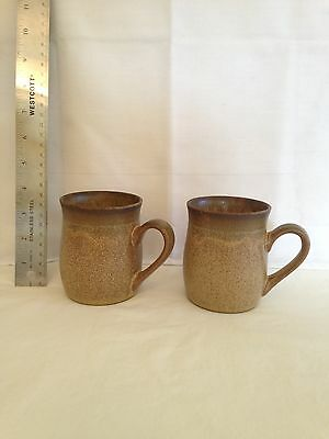 DENBY LANGLEY 2 VINTAGE COFFEE Cups, ROMANY BROWN