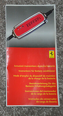 Ferrari Battery Trickle Charger Owners Handbook Manual Booklet
