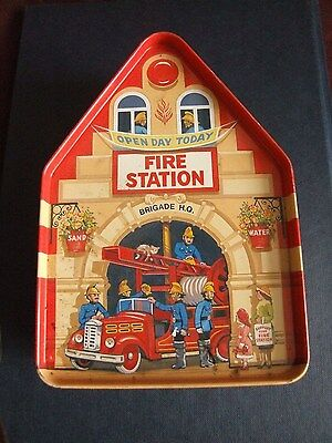 Toy Town Fire Station Sweet Tin. Lovely detail - Excellent & Very Collectable