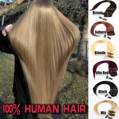 Big Sale Clip In Extensions FULL HEAD 100% Real Remy human hair Any Colours UKF