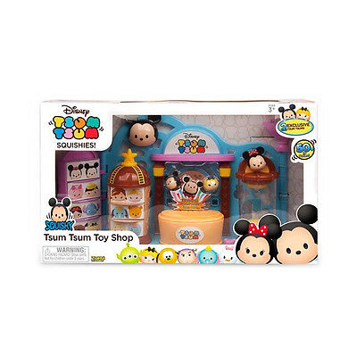 Disney Tsum Tsum Squishy/Squishies Toy Shop Playset with 2 EXCLUSIVE TSUM TSUMS