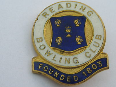 READING BOWLING CLUB (Founded 1803) Enamel Lapel Badge