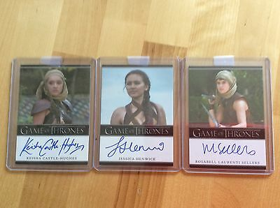 Game of thrones autograph cards The Sand Sisters.