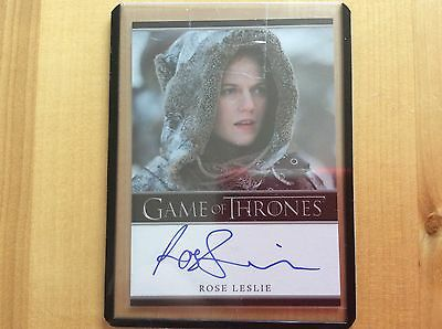 Game of thrones autograph card Rose Leslie