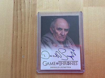 Game of thrones autograph card Donald Sumpter