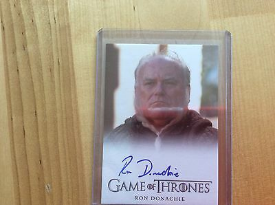 Game of thrones autograph card Ron Donachie