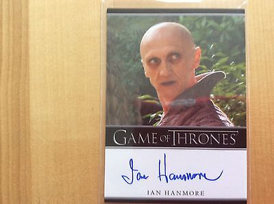 Game of thrones autograph card Ian Hanmore