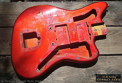 Vintage 1965 Fender Origninal CANDY APPLE RED Jazzmaster BODY PRE-CBS 1964 1966