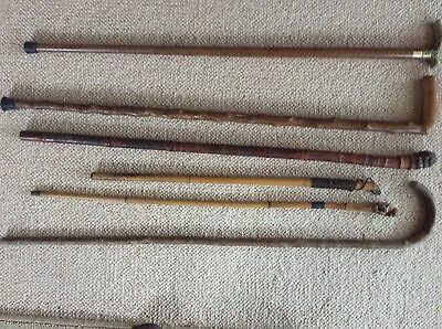 Collection Of Walking And Swagger Sticks. No Reserve