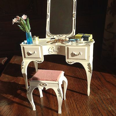 Vintage Sindy Dressing Table/Stool And Accessories Set Boxed Complete