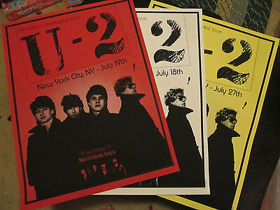 U2 Msg Madison Square Garden Poster Nyc Limited Edition Lot Of 3 Diff Nights