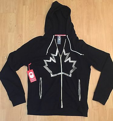 CANADA WINTER OLYMPICS HOODY L/S HUDSON'S BAY CO. SIZE ADULT LARGE L Black BNWT