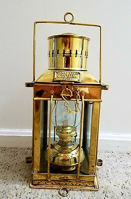 Heavy Duty Delux Solid Brass Oil Cargo Lantern