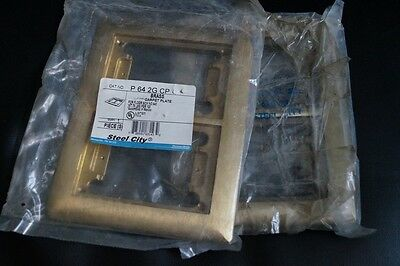 Steel City P-64-2G-CP Brass Carpet Floor Plate NEW P 64 2G CP for box no. 642