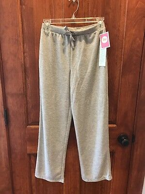 NWT Circo Girls Size L 10-12 Gray Flannel Pants With Shimmering Sparkles