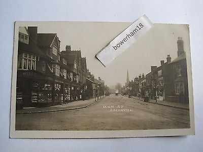 High Street Solihull Warwickshire early RP shop fronts etc.