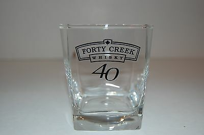 40 Creek Whiskey Square Shaped Low Ball Glass