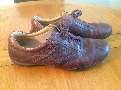 """Clarks """"cushion Cell""""brown Leather Lace Up Trainers/shoes Size Uk 10"""