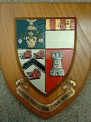 Vintage UNIVERSITY OF ABERDEEN Crest Shield Plaque Coat of Arms